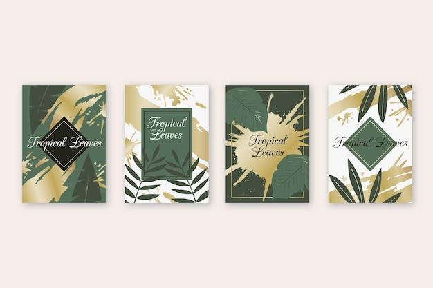 黄金の水しぶきを持つ熱帯カード