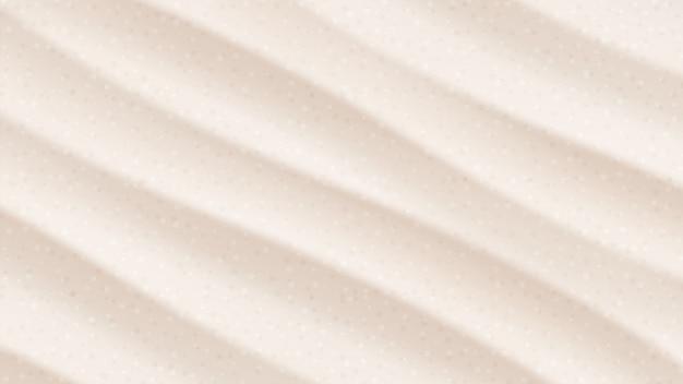 熱帯の砂漠の砂丘。ビーチサンズトップビュー角度。背景イラスト