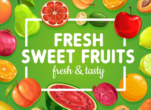 열대 이국적인 달콤한 과일 음식