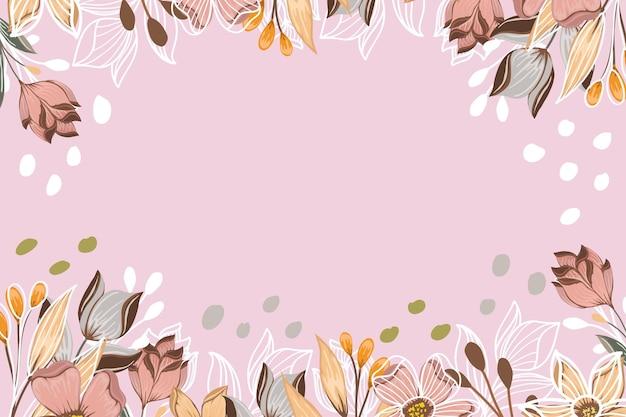 熱帯の花の芸術の背景