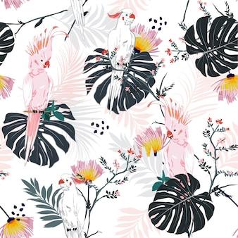 Tropical floral print.