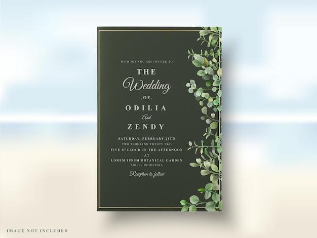 열대 꽃 웨딩 카드