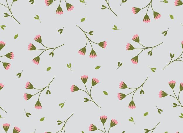 Tropical flower seamless pattern spring season