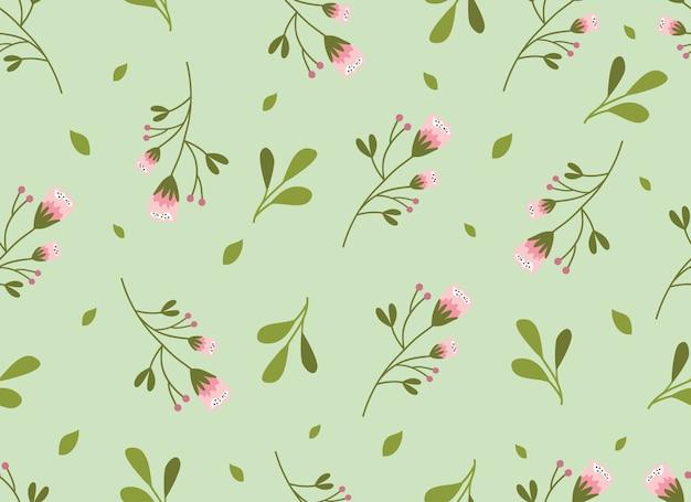 Tropical flower seamless pattern.