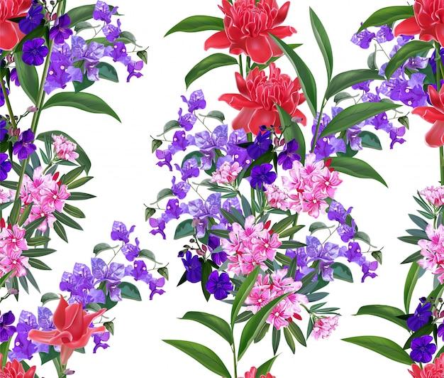 熱帯の花のシームレス
