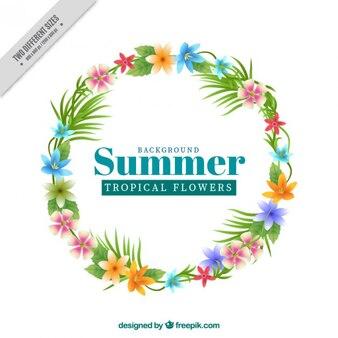 Тропический цветок фон лето