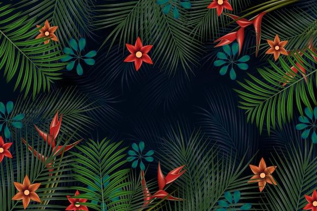 Тропические цветы фон для увеличения
