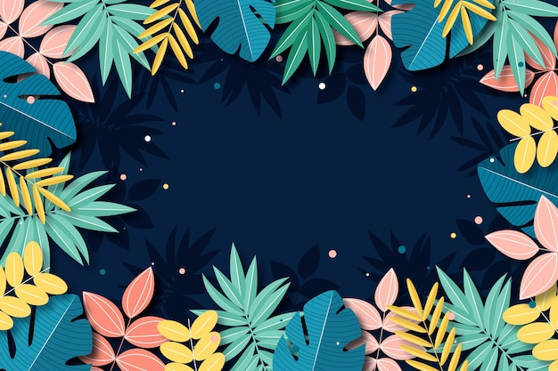 Tropical flowers background for zoom