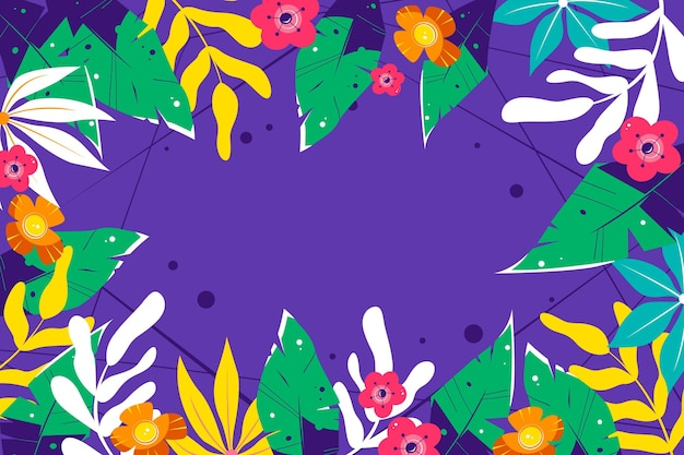 Tropical flowers design background