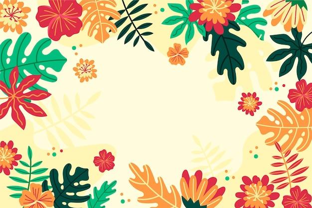 Тропические цветы / листья - фон для увеличения