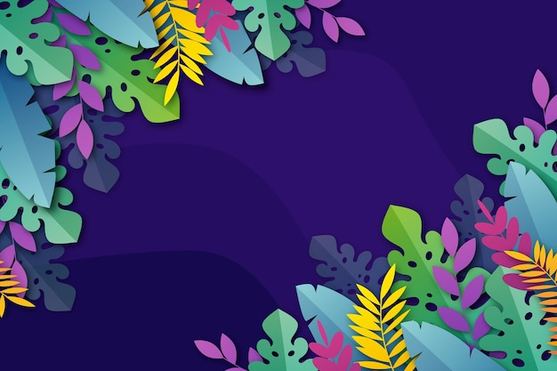 Tropical flowers/leaves - background for zoom