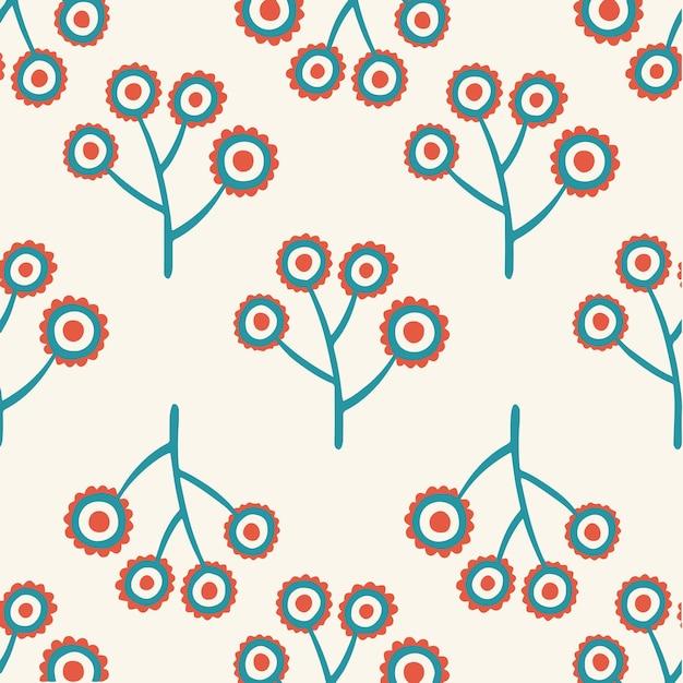 Tropical flowers pattern background social media post floral vector illustration