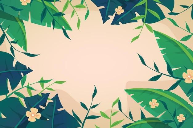 열 대 꽃 벽지 확대