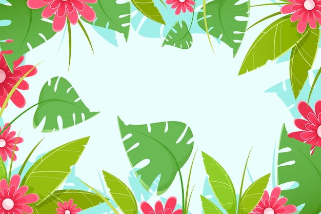 Tropical flowers wallpaper for zoom