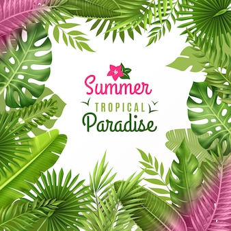 Tropical foliage decorative background