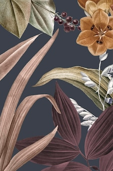 Tropical frame background design vector