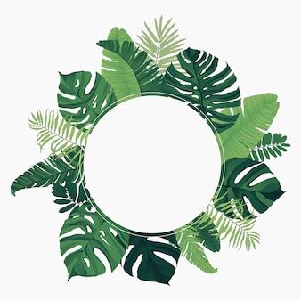 Tropical frame circle