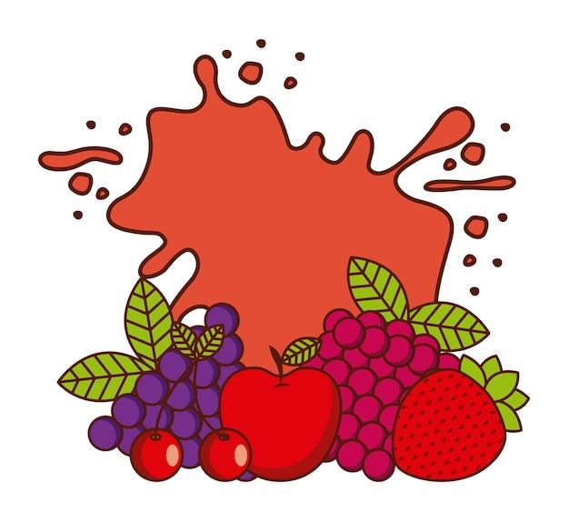 Дизайн тропических фруктов