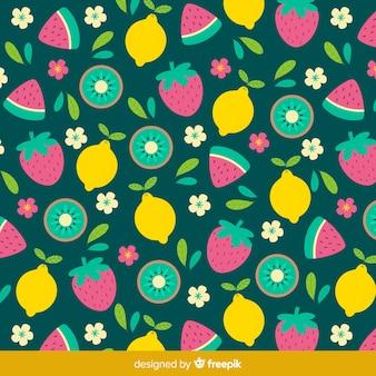 Tropical fruit pattern