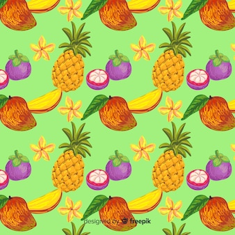 Tropical fruit pattern