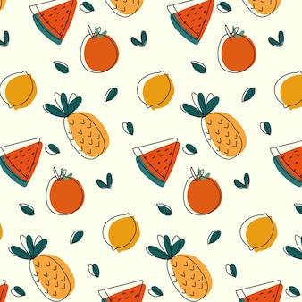 열대 과일 패턴
