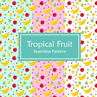 Tropical fruit seamless pattern