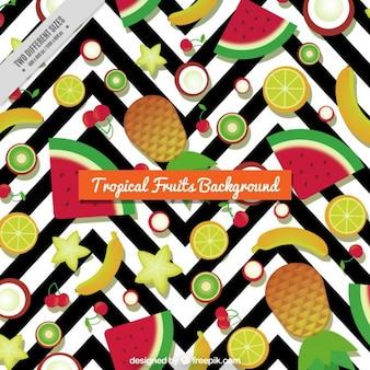 Фон тропические фрукты