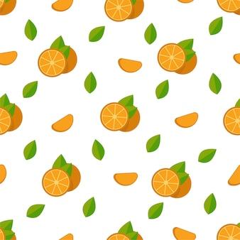 Тропические фрукты апельсины бесшовные модели.