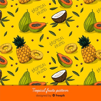 Tropical fruits pattern