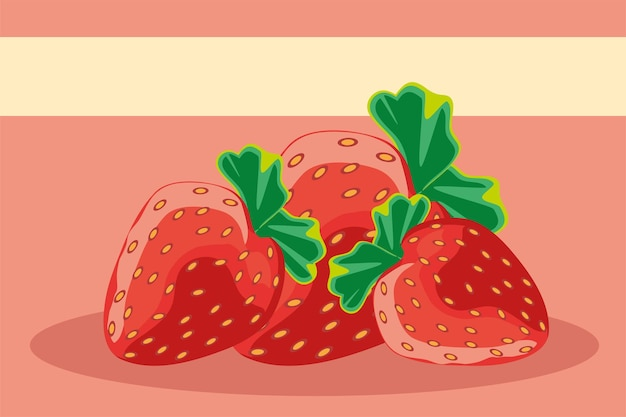 Tropical fruits strawberries fresh nutrition