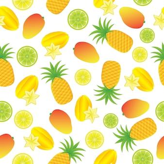 Tropical fruti pattern background