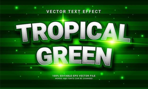 トロピカルグリーンの3dテキストスタイル効果をテーマにした緑色