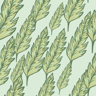 Бесшовный узор из тропических зеленых листьев. листья орнамента. фон листвы. цветочные обои.