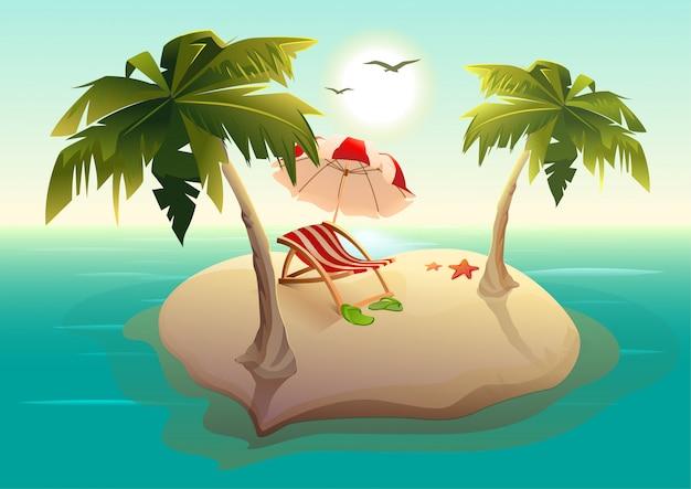 海の熱帯の島。
