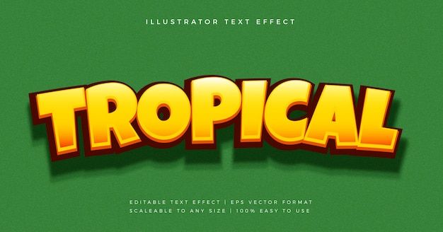 Tropical jungle fun text style font effect