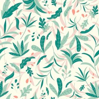 熱帯のジャングルのシームレスパターン
