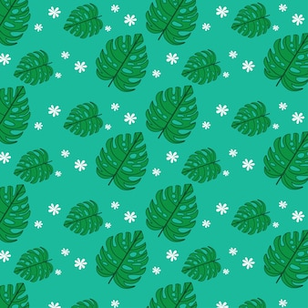Tropical leaf background pattern