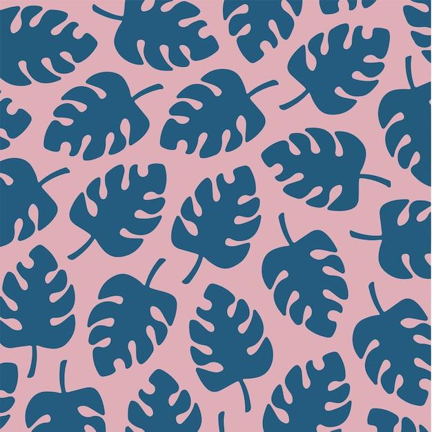 熱帯の葉のパターンの背景ソーシャルメディア投稿植物の花のベクトル図