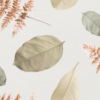 Tropical leaf seamless patterned background