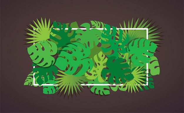 Tropical leafs background