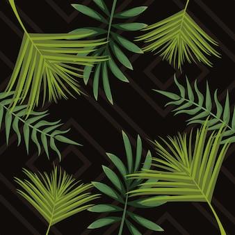 열대 잎 패턴