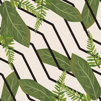 스트로크와 열 대 잎