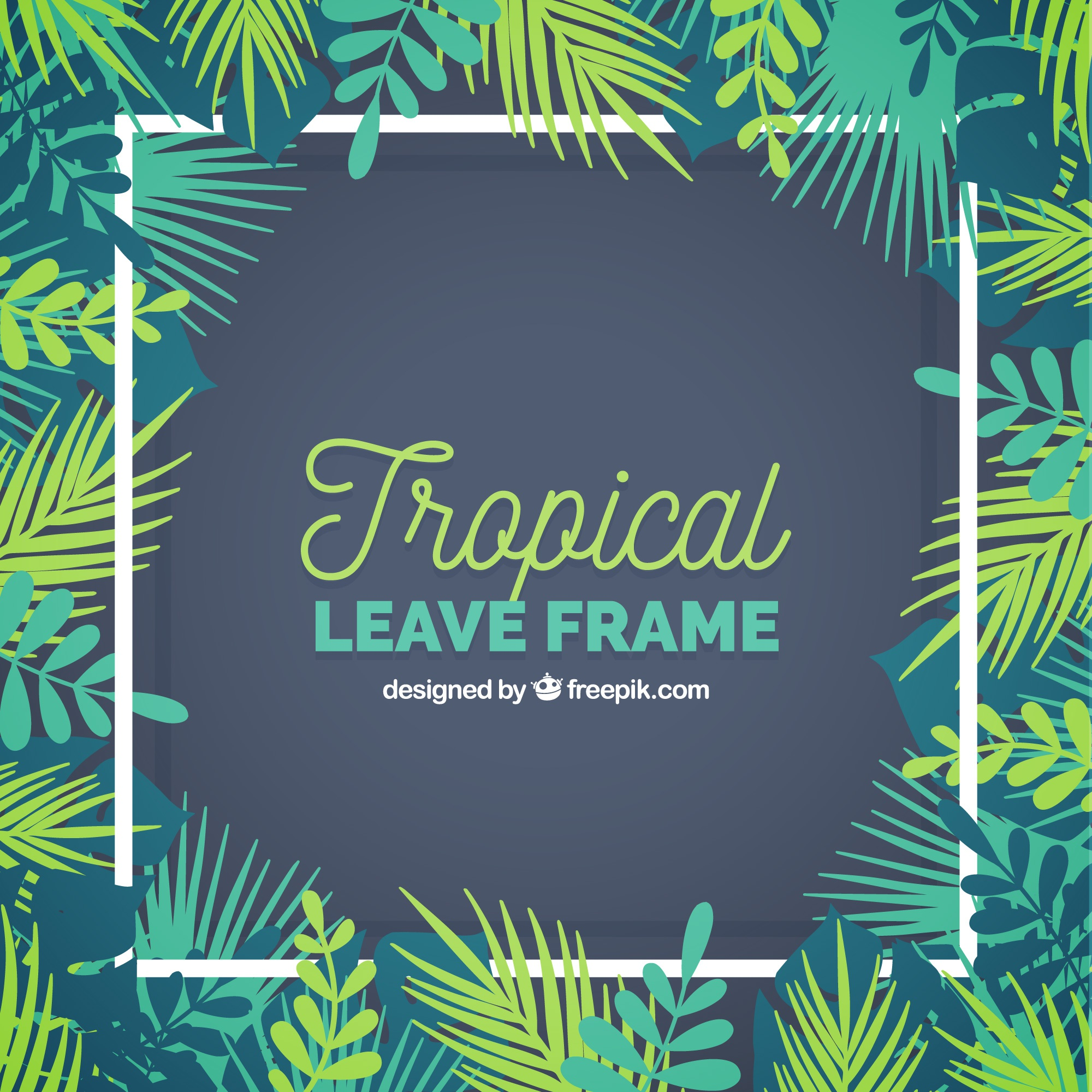 Tropical leave frame