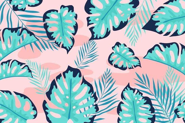 熱帯の葉の背景コンセプト