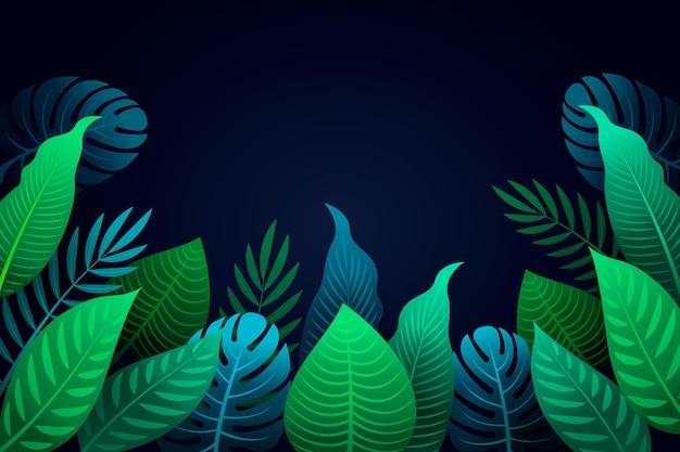 熱帯の葉の背景デザイン