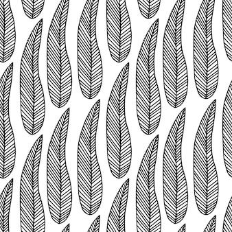熱帯の葉の背景。ファッショナブルなエキゾチックなシームレスパターン。生地見本。テキスタイルと壁紙のデザイン。