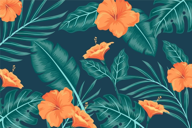 Тропические листья фон для увеличения