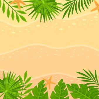 熱帯の葉の背景のテーマ