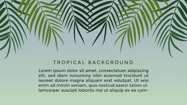Тропические листья фон с текстом