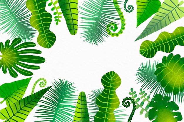 熱帯の葉の背景